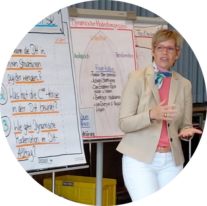Tanja Schnetzer in Seminarsituation