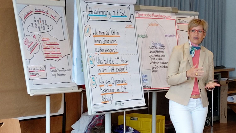 Tanja Schnetzer als Trainerin im Seminar
