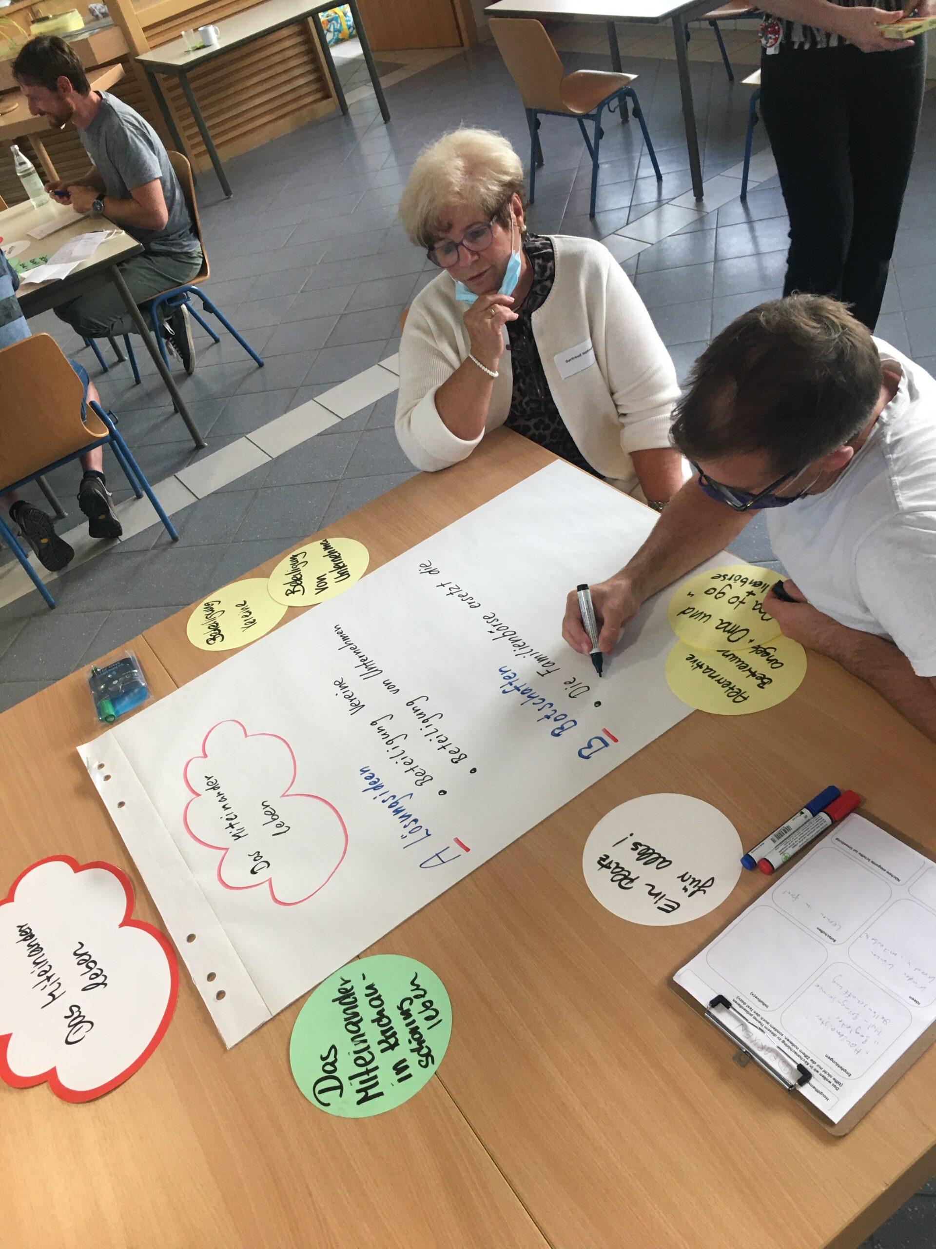 Gruppenarbeit im Bürgerrat