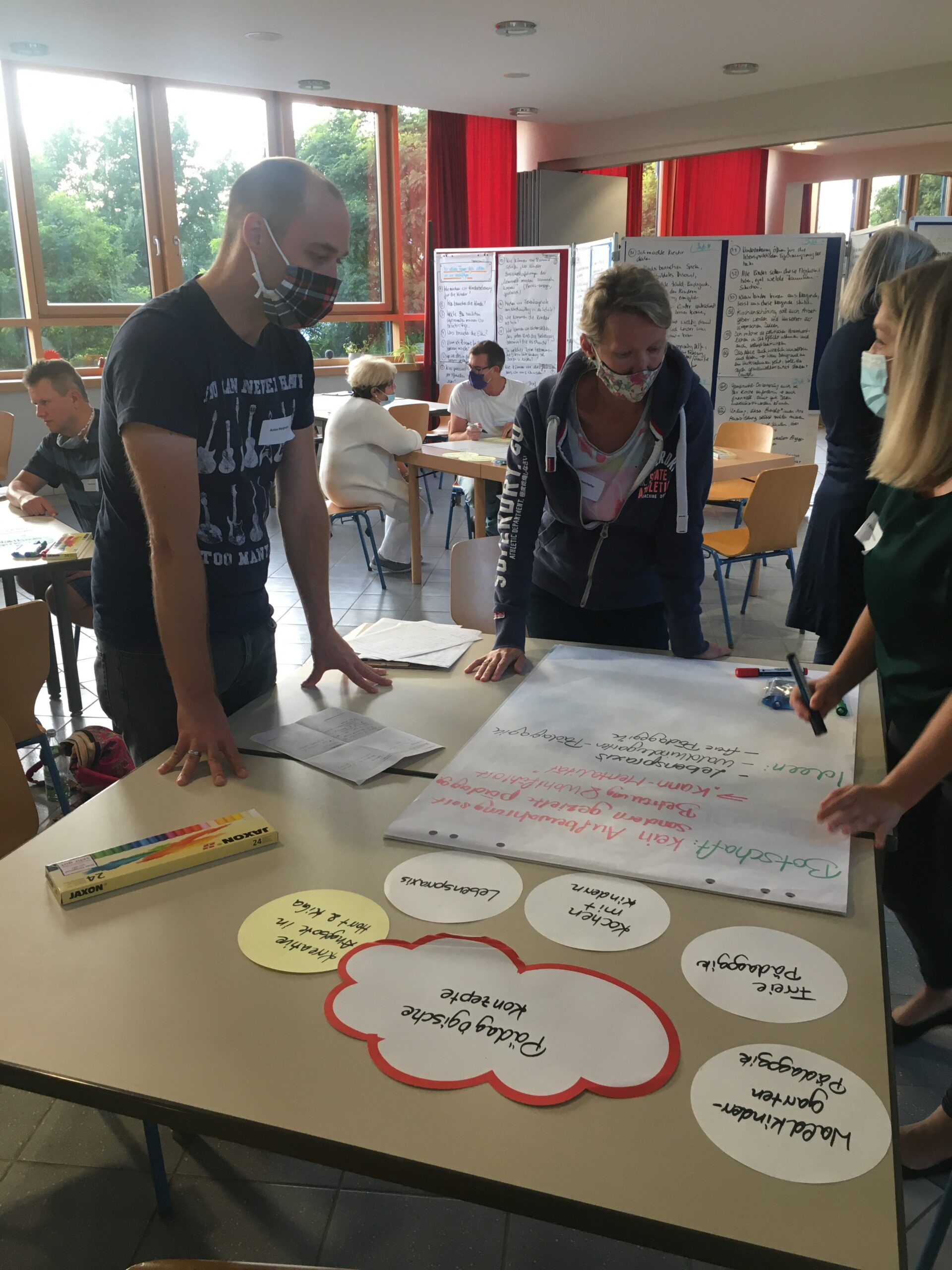 Gruppenarbeit im Bürgerrat - intensiver Austausch zu den Ideen und Lösungen